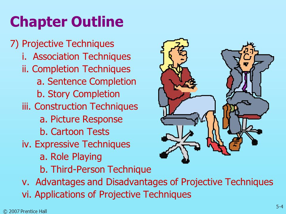 Chapter Outline 7) Projective Techniques i. Association Techniques