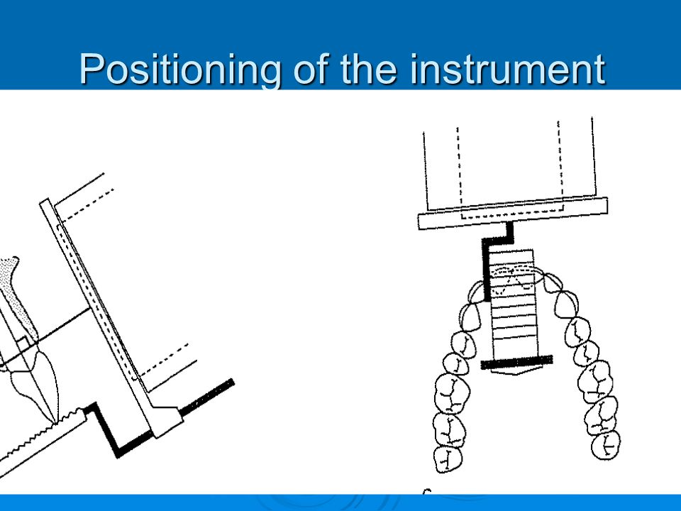 Positioning of the instrument
