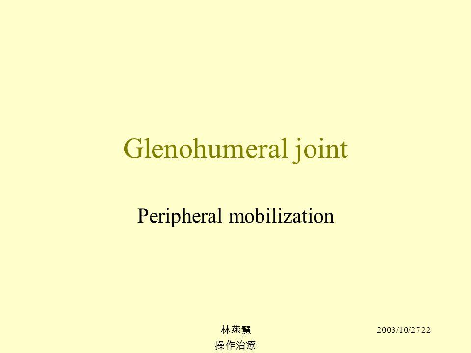 Peripheral mobilization