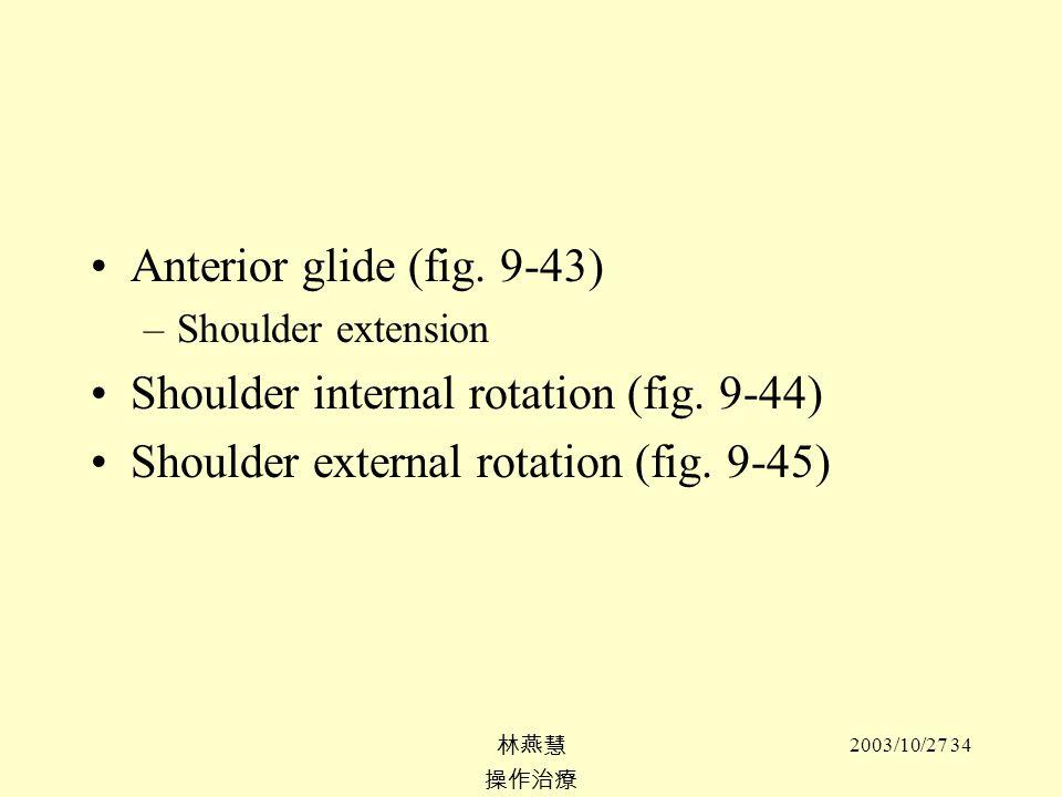 Shoulder internal rotation (fig. 9-44)