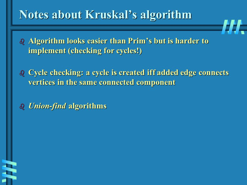 Shortest paths – Dijkstra's algorithm