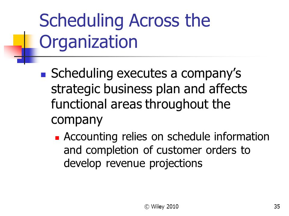 Scheduling Across the Organization