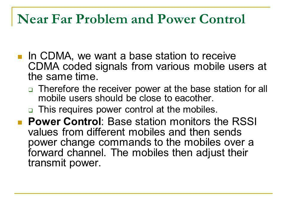 Near Far Problem and Power Control