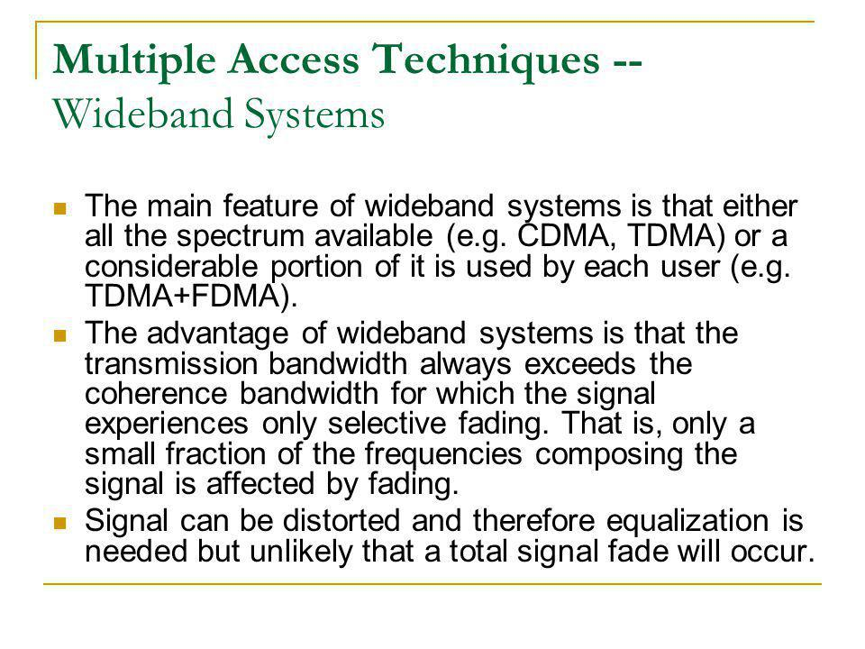 Multiple Access Techniques -- Wideband Systems