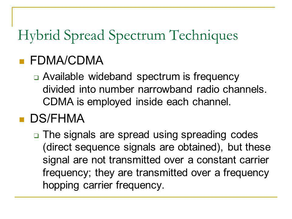 Hybrid Spread Spectrum Techniques