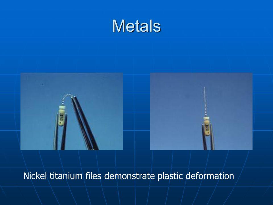 Metals Nickel titanium files demonstrate plastic deformation