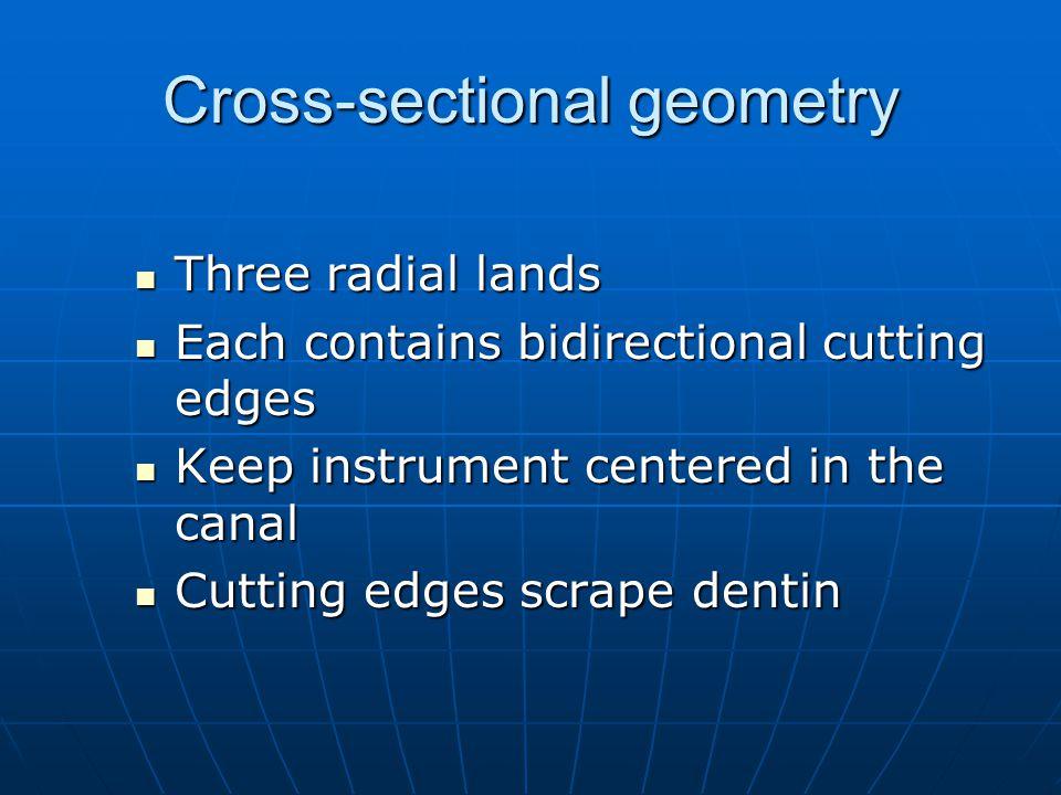 Cross-sectional geometry