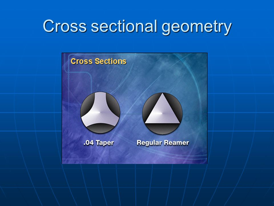 Cross sectional geometry
