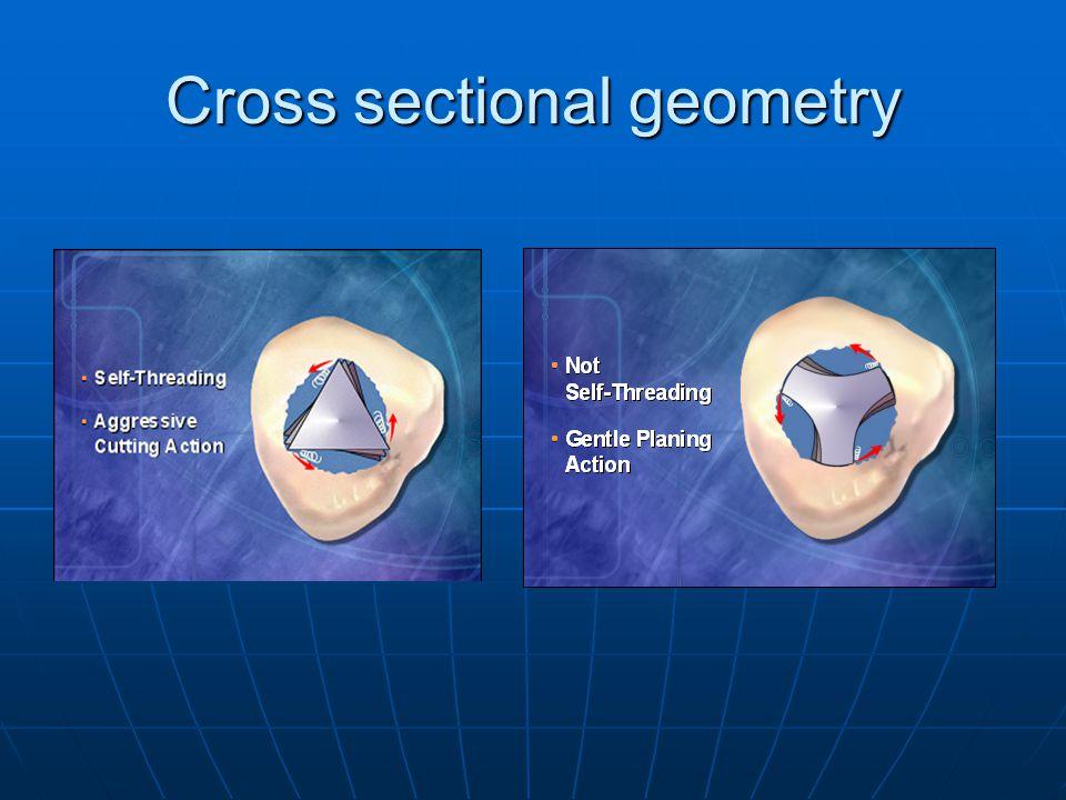 Cross sectional geometry