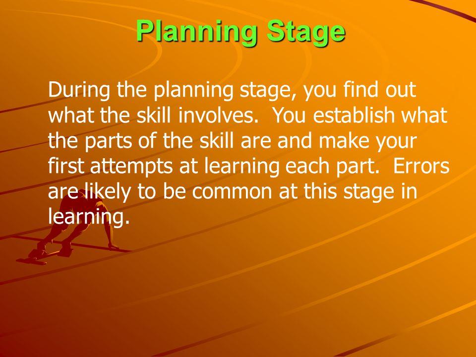 Planning Stage