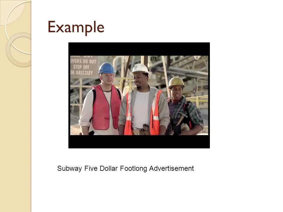 Example Subway Five Dollar Footlong Advertisement