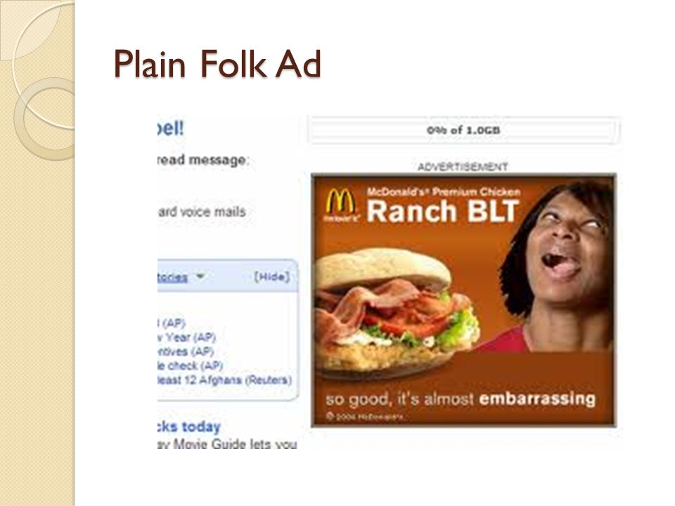 Plain Folk Ad