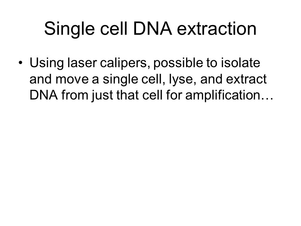 Single cell DNA extraction