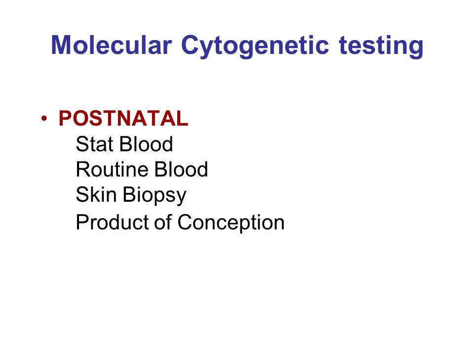 Molecular Cytogenetic testing