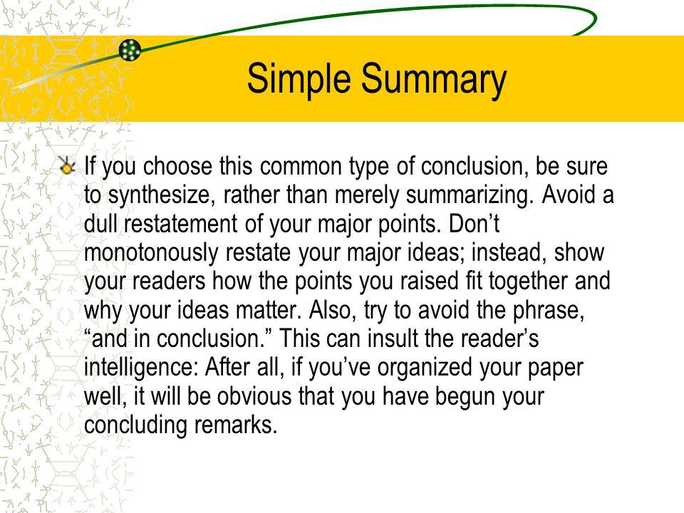 Simple Summary