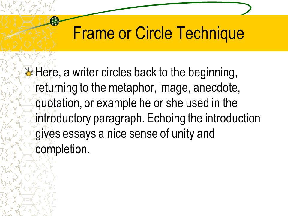 Frame or Circle Technique
