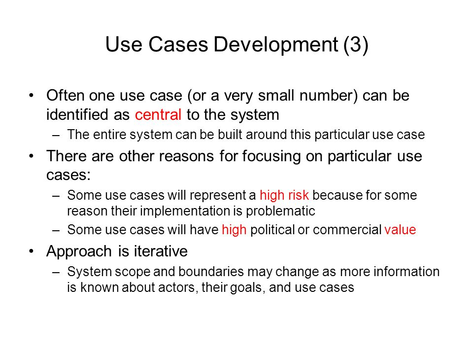 Use Cases Development (3)