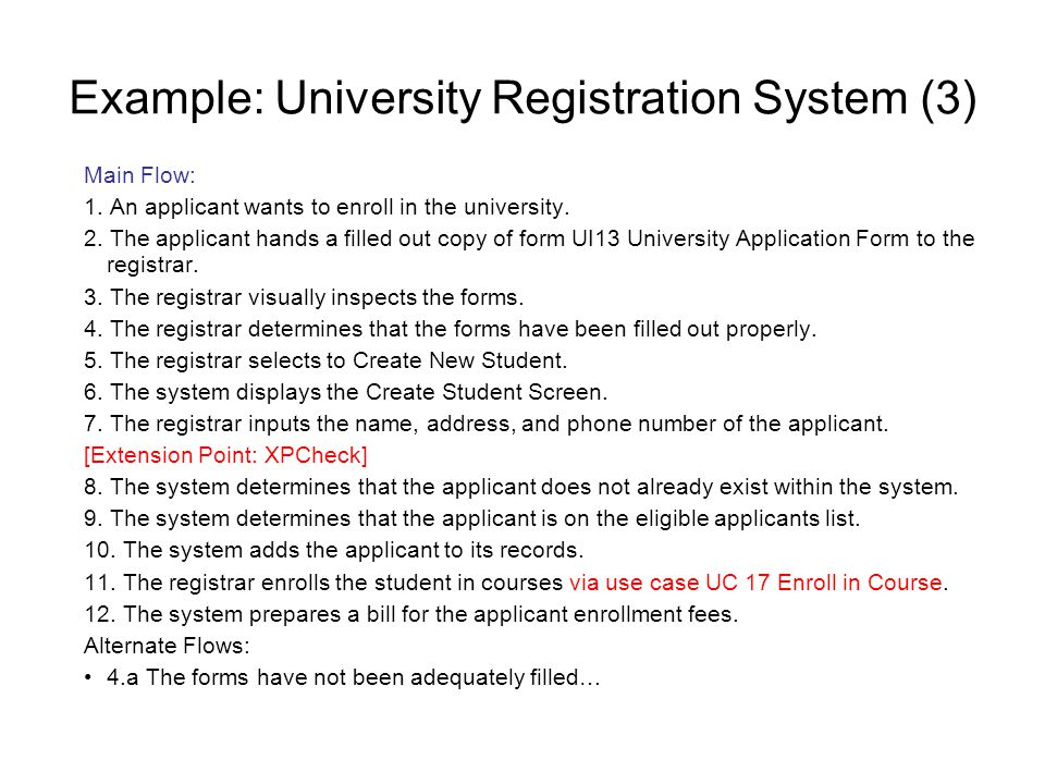Example: University Registration System (3)