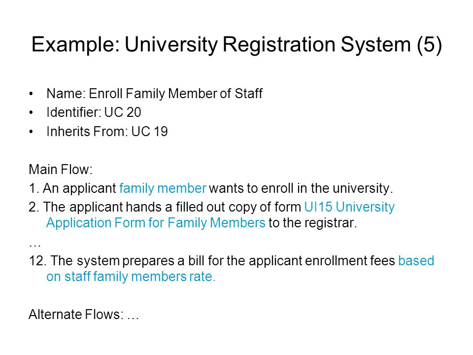 Example: University Registration System (5)