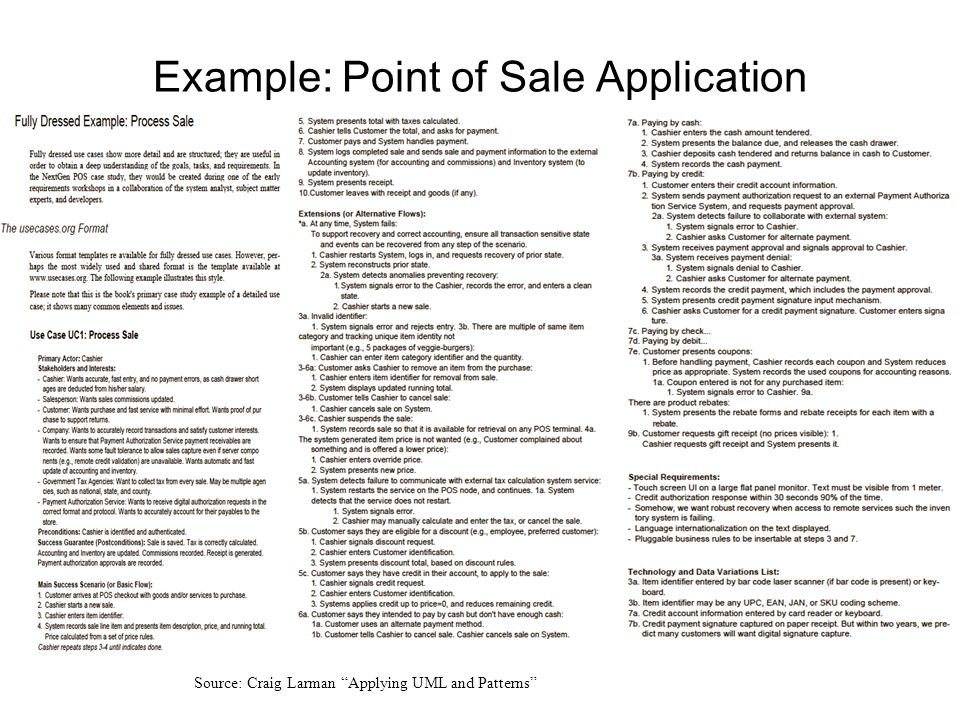 Example: Point of Sale Application