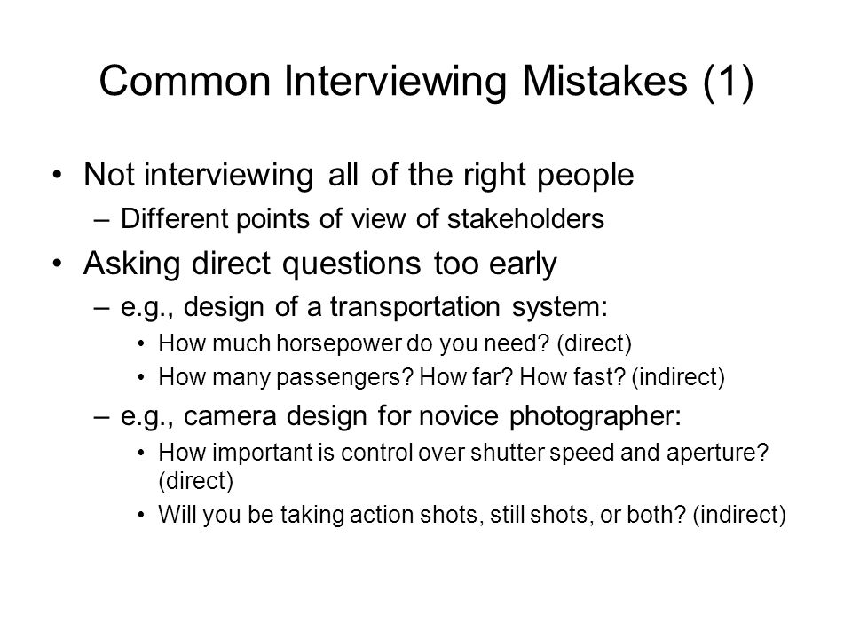 Common Interviewing Mistakes (1)