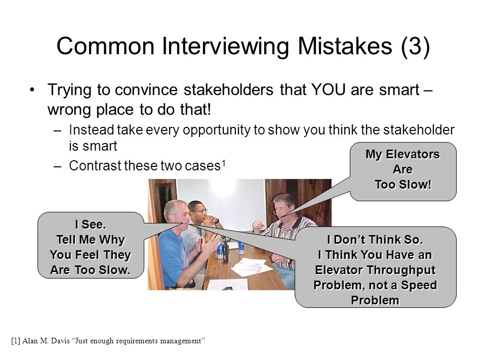 Common Interviewing Mistakes (3)