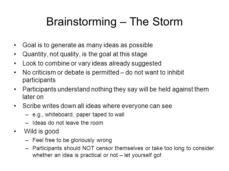 Brainstorming – The Storm