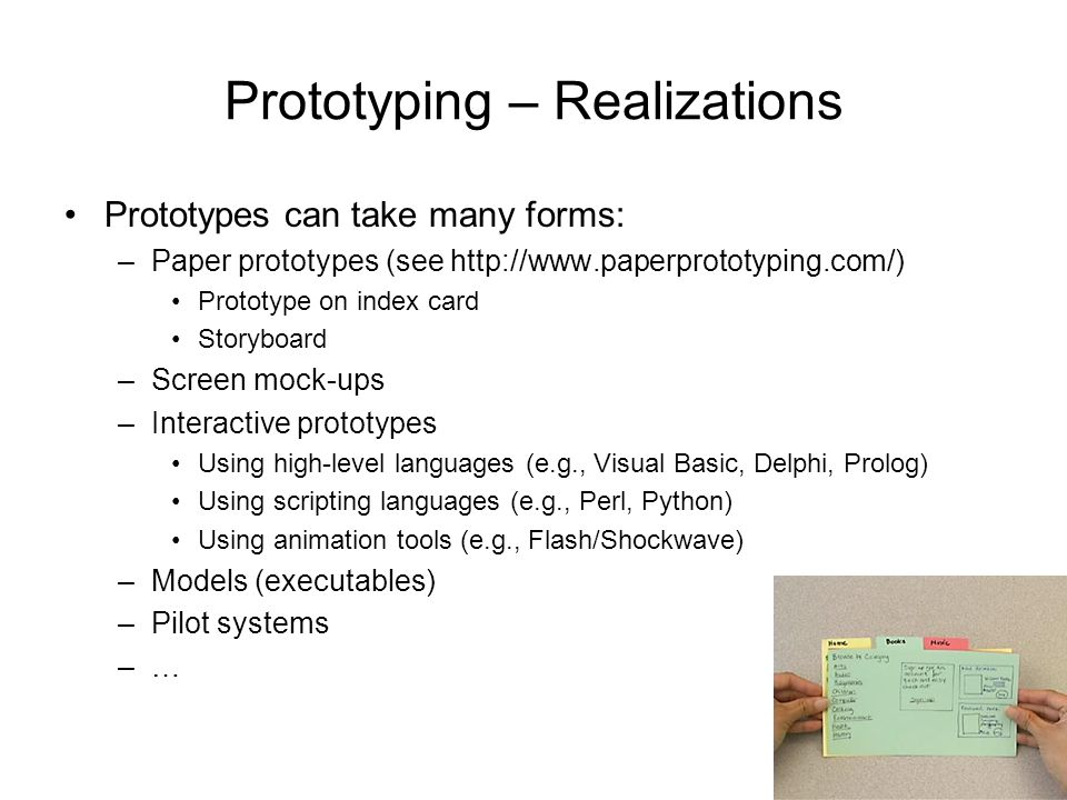 Prototyping – Realizations