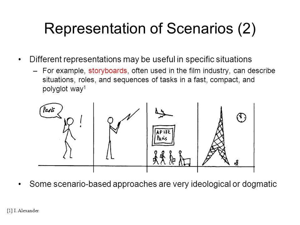 Representation of Scenarios (2)