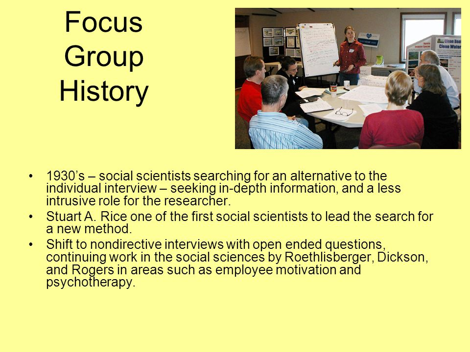 Focus Group History