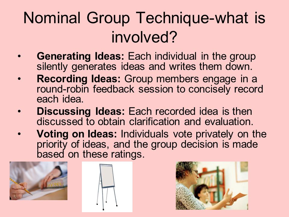 Nominal Group Technique-what is involved