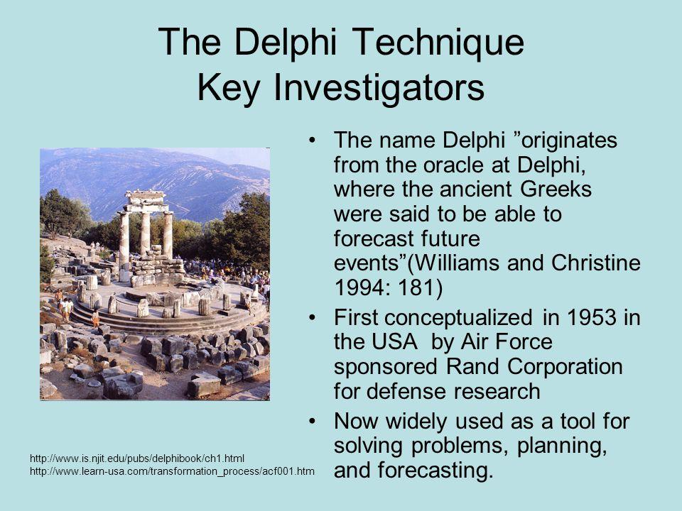 The Delphi Technique Key Investigators