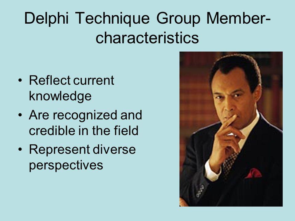 Delphi Technique Group Member-characteristics