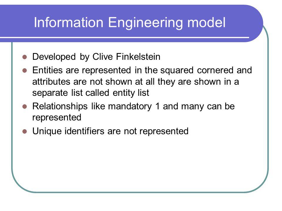 Information Engineering model