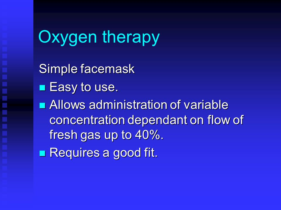 Oxygen therapy Simple facemask Easy to use.