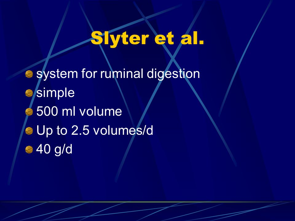 Slyter et al. system for ruminal digestion simple 500 ml volume