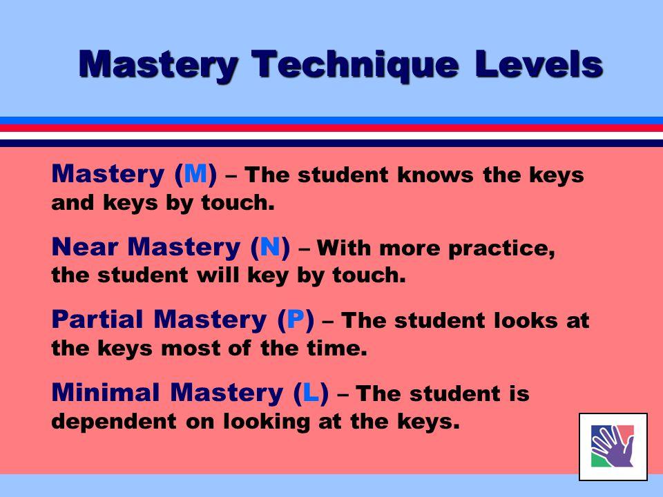 Mastery Technique Levels