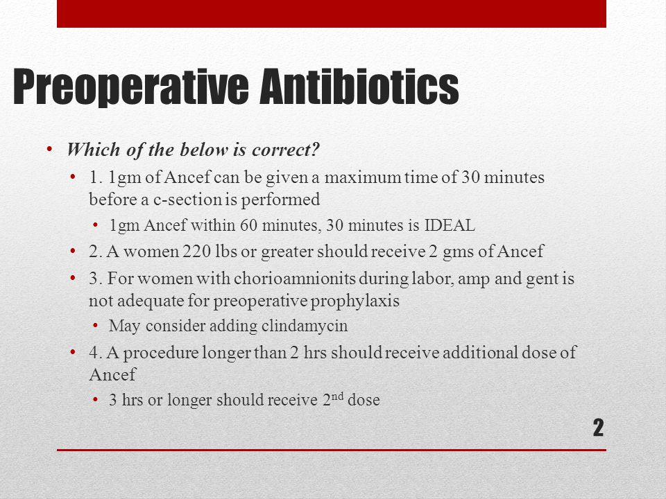 Preoperative Antibiotics