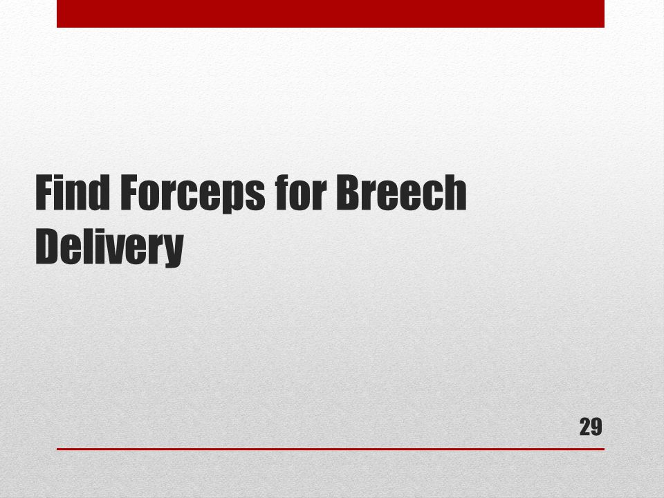 Find Forceps for Breech Delivery