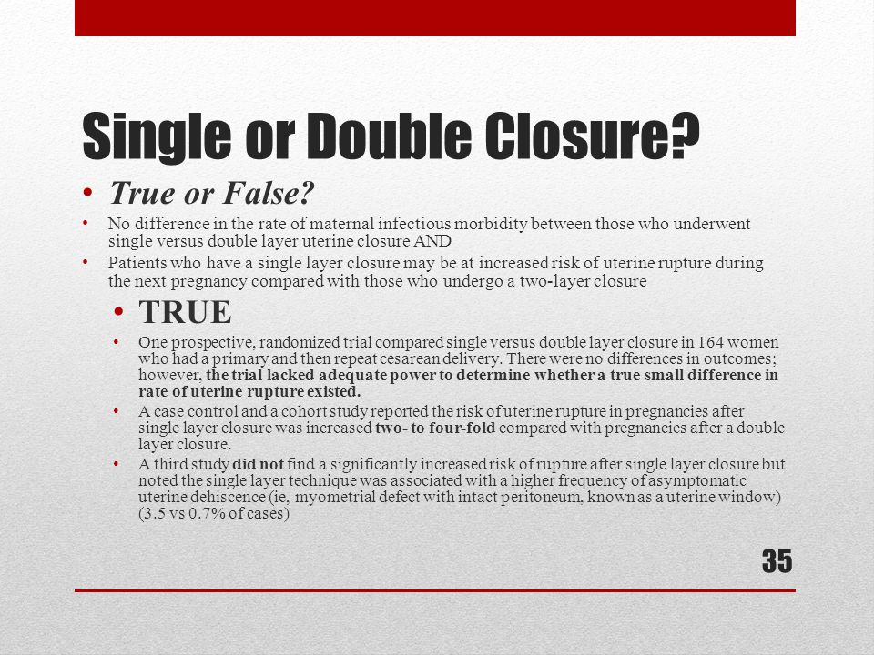 Single or Double Closure