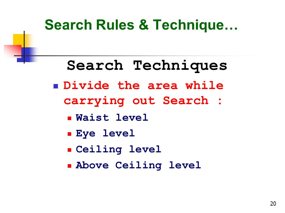 Search Rules & Technique…