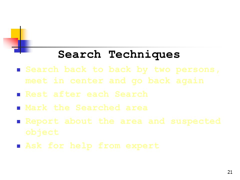 Search Rules & Technique