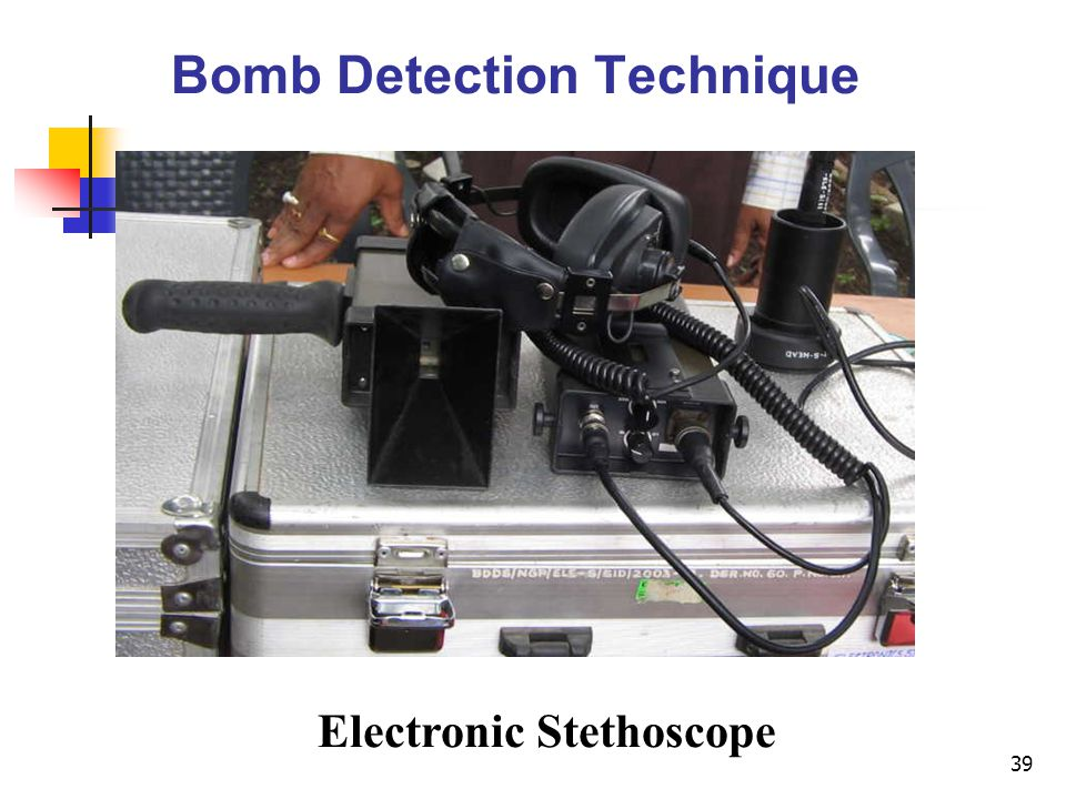 Bomb Detection Technique