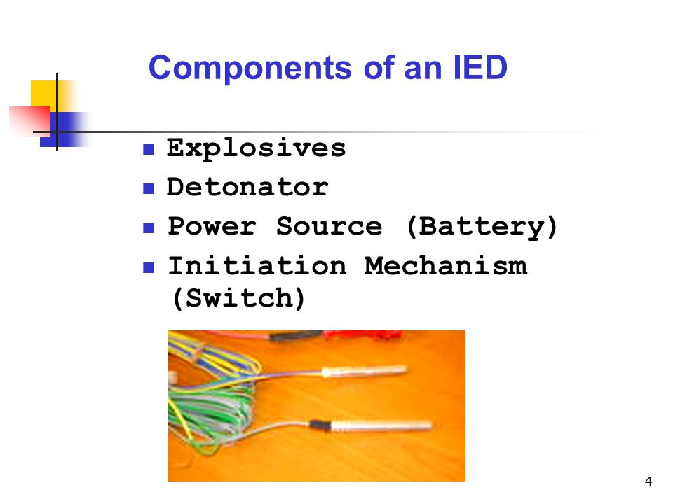 improvised explosive devices  ied