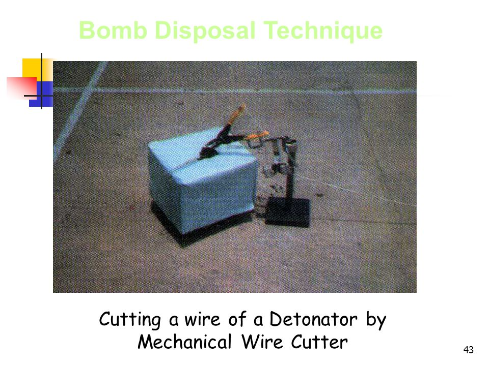 Cutting a wire of a Detonator by Mechanical Wire Cutter
