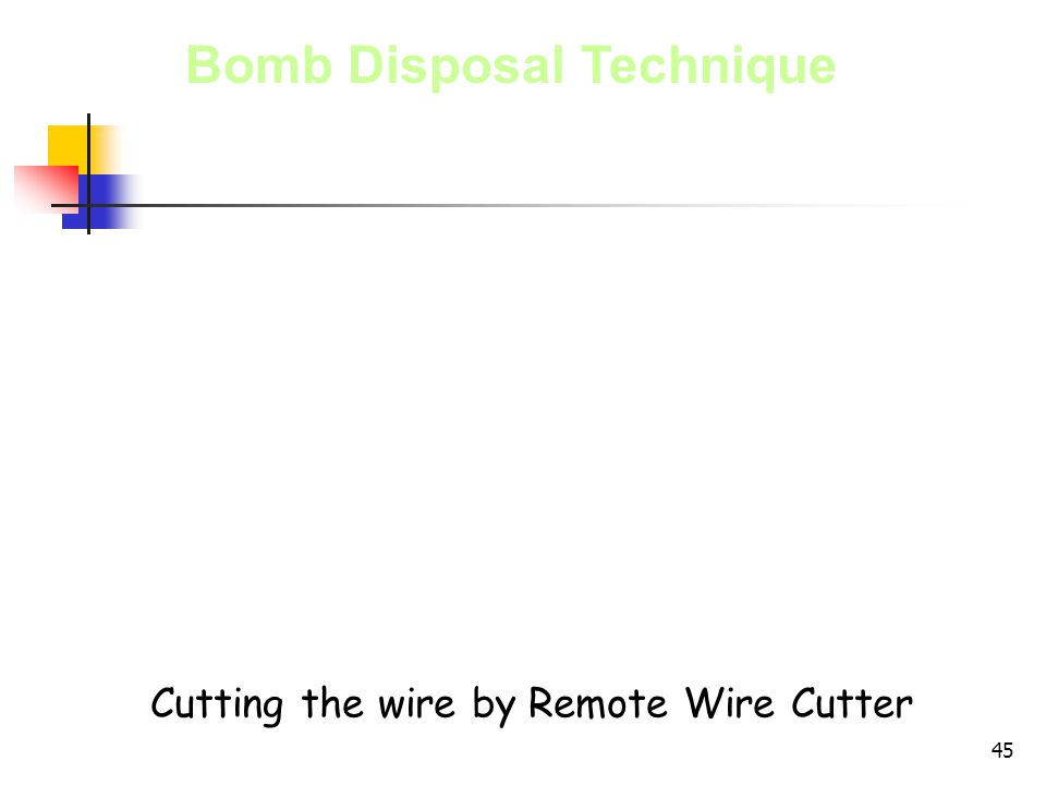 Cutting the wire by Remote Wire Cutter
