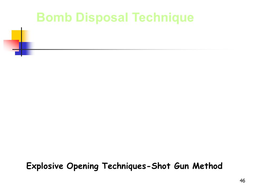 Explosive Opening Techniques-Shot Gun Method