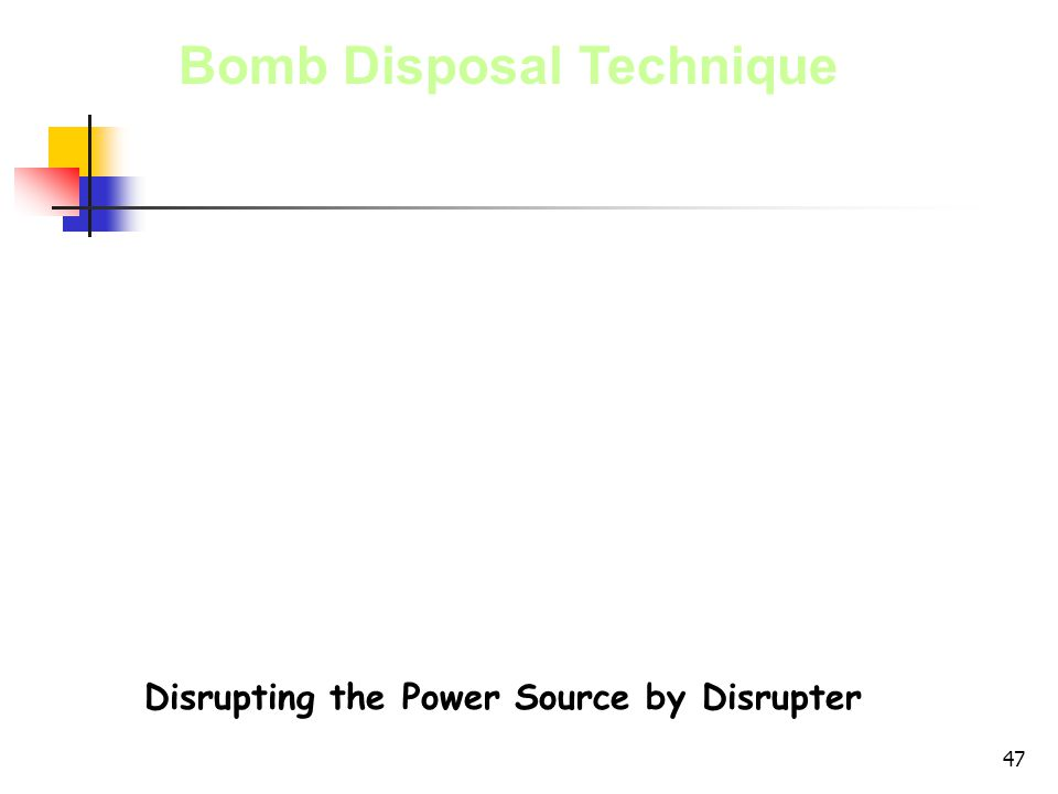 Disrupting the Power Source by Disrupter
