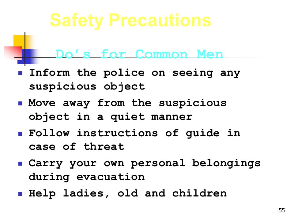 Safety Precautions Do's for Common Men