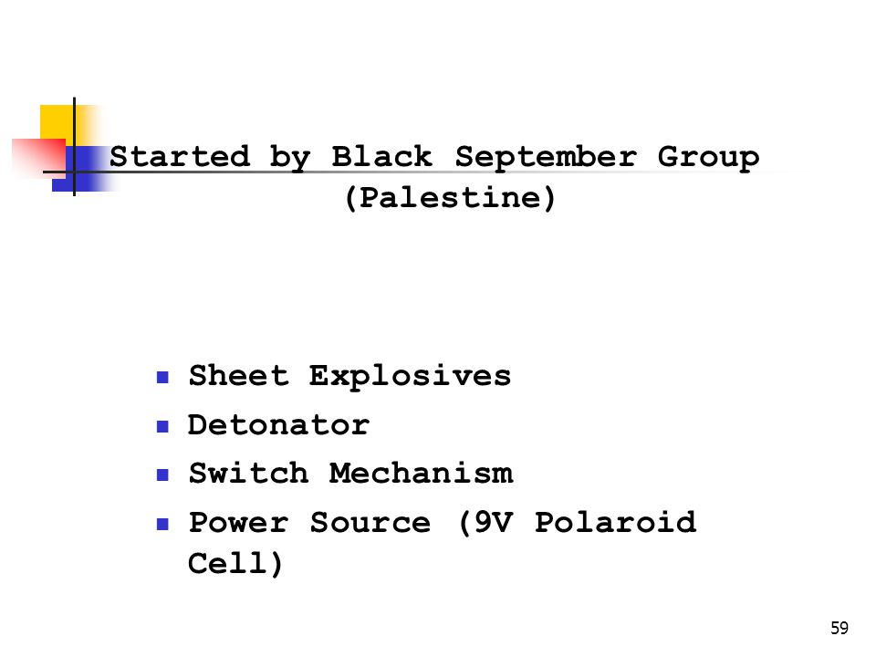 Started by Black September Group (Palestine)